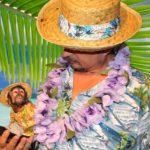 Шоу попугаев Стиль Гавайская вечеринка